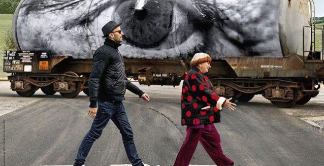 Détail de l'affiche de Visages, villages, un film de JR et de Varda © Arte France films, Arche films, Ciné Tamaris, Social animals